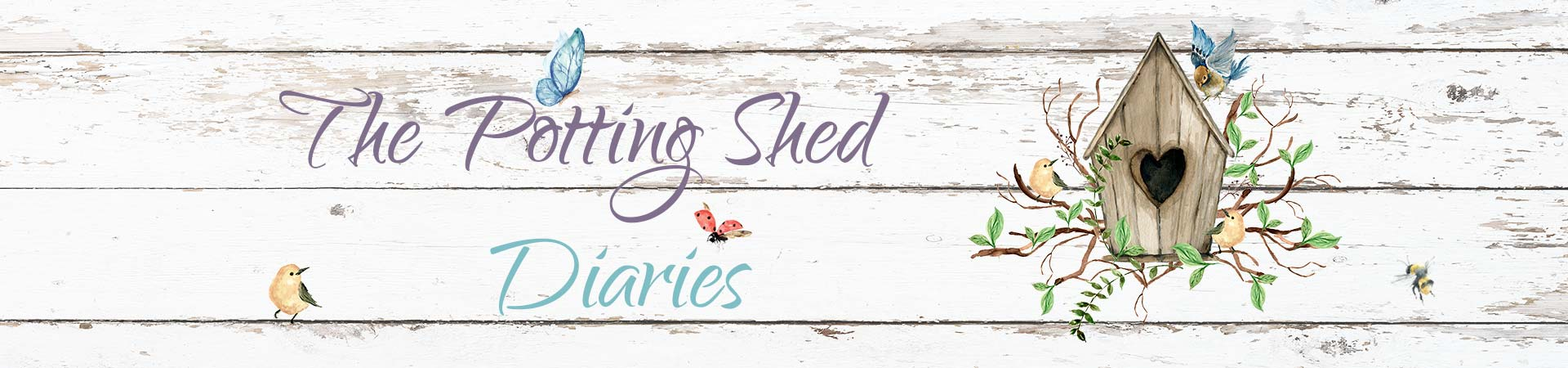The Potting Shed Diaries header